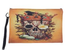 Canvas Bag - Pirate Skull Printed Handmade Cosmetic Makeup Stationery Money Pocket General Purpose (One Design in the World) by Cosmetic Bags. $22.00. A moderate price cosmetic bag with ideal art painted on. As one design is made out for just one single bag. You can pick one cosmetic bag from us and design your own style for a day. The more design, the more you can pick a style  not repetitiously. Please see more on our store front Thai Threshold.