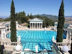 Neptune Pool, Hearst Castle, San Simeon, California | Grecian Pool