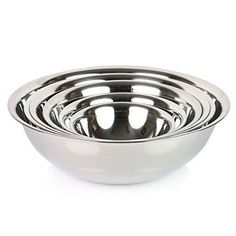 ChefLand (Set of 6) Mixing Bowls Standard Weight Stainless Steel, Mirror Finish #chefland