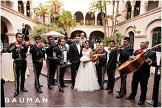 I love this! The Mariachi band is so fun!!   Balboa Park Wedding, Photography by Bauman Photographers  View More: http://baumanphotographers.com/blog/weddings/2015/10/gabe-emylou-the-prado-wedding/