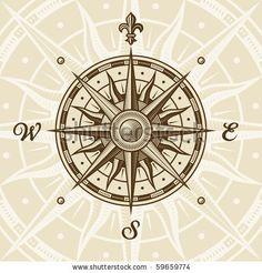 compass tattoo | vintage compass rose shutterstock tattoo vintage compass rose id ...