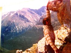 """ ROCKY MTS 1983 WITH RICHARD "" ** YES..THIS IS A REAL PICTURE **"