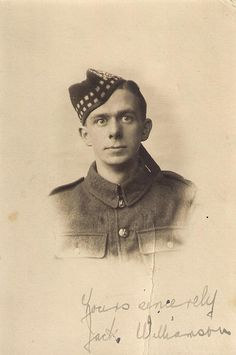 Jack Williamson, Photo taken by Cupar Studios Ltd, South Bridge, Cupar, Fife. Believe it to be A Gordon Highlander