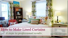 DIY - Lined Curtains - I'm also loving that fabric!