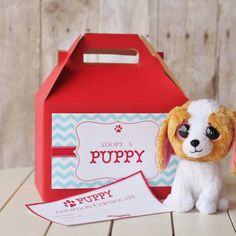 15 Puppy Adoption Boxes and Certificates | The Homespun Hostess