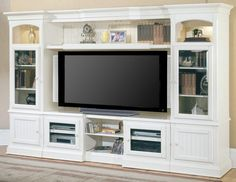 Entertainment center idea - exact dimensions of our nook