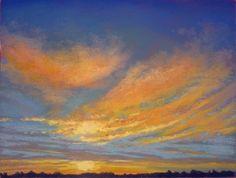 Sunrise Glory by Regina Burchett Pastel ~ 9 x 12
