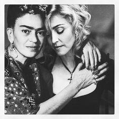 #Madonna #fridakahlo #rebelhearts ❤️