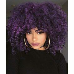 Purple curly fro!