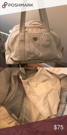 Lululemon work out tote bag Barely used last season lululemon workout tote. I ended up finding a back liked better. This is barely used and in great condition! lululemon athletica Bags Totes