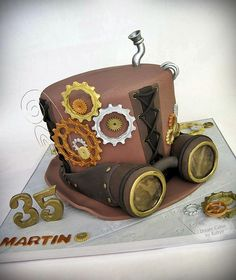Steampunk Top Hat Cake