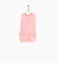 BASIC PLUSH JERSEY JUMPSUIT-DRESSES AND JUMPSUITS-BABY GIRL | 3 months - 4 years-KIDS | ZARA United States