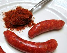 Merguez is a lamb- or beef-based sausage that is red and full of spices. Make your own spice mix for the sausage that is popular in North Africa and Morocco. Sausage Spices, Sausage Seasoning, Spicy Sausage, Seasoning Mixes, Seasoning Recipe, Homemade Sausage Recipes, Homemade Spices, Home Made Sausage, Cheese