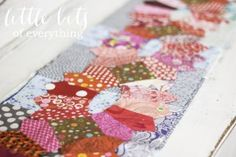 Little Bits of Everything Inc. Quilts, work in progress. Hanging Lanterns Pattern by Sarah Fielke. Vintage quilts