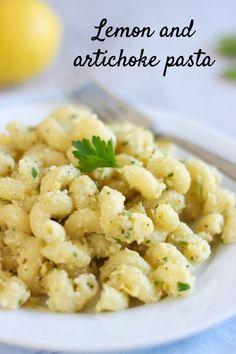 Lemon and Artichoke Pasta from Amuse Your Bouche