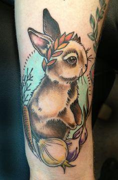 Bunny tattoo by Amy Shapiro