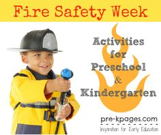 Fire Safety Week Activities for Preschool and Kindergarten from Pre-K Pages Community Helpers Preschool, Preschool Lessons, Preschool Kindergarten, Preschool Ideas, Preschool Curriculum, Teaching Ideas, Dc Fire, Fire Safety Week, Fire Prevention Week