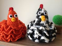 Galinha Rendada Chicken crochê - Professora Maria Rita