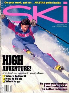 Who had a pair of these HEAD SKIs, Raichle boots, SCOTT Sports poles or this flashy jacket? From Magazine! Back Day, Back In The Day, Head Skis, Ski Magazine, Scott Sports, Winter Suit, Alpine Skiing, Vintage Ski, Ski Fashion