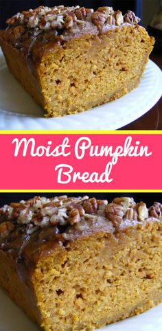 MOIST PUMPKIN BREAD My grandmother clipped this pumpkin bread recipe from a magazine over 50 years ago. It's the oldest recipe in my family and also the most cherished. In fact, one of my cle… Healthy Recipes, Baking Recipes, Sweet Recipes, Cake Recipes, Dessert Recipes, Scones, Moist Pumpkin Bread, Pumpkin Puree, Pumpkin Loaf