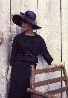 The actress Audrey Hepburn photographed by Howell Conant for a fashion editorial (for the American LIFE Magazine, edition of May 1962, but this same photo was not published), at a farm near her house in Bürgenstock (Switzerland), in February 1962.