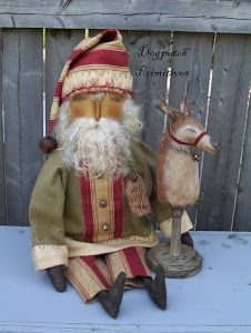 Image result for primitive santa doll