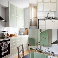 50-luvun keittiö teki paluun | Meillä kotona Larder Cupboard, Kitchen Cupboard Doors, Kitchen Cabinets, Kitchen Upgrades, Butler Pantry, My Dream Home, Vintage Kitchen, Countertops, Retro