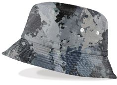 Shades of gray paint splatter unisex bucket hat. Help keep the sun out of your eyes at the beach