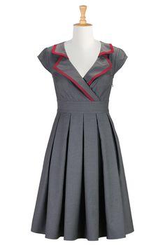 Suiting Blend Shirtdresses, Vintage Plus Size Clothing Shop womens designer dresses - Wrap dresses - Shop for wrap dresses   eShakti.com