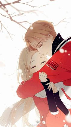Love is a Cherry Color Couple Anime Manga, Anime Cupples, Anime Love Couple, Anime Guys, Romantic Anime Couples, Cute Anime Couples, Sweet Pictures, Cute Couple Art, Anime Couples Drawings