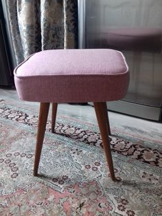 Vintage Stool, Original Vintage, Mid Century Modern Furniture, Mid Century Design, Foot Rest, Mid-century Modern, Ottoman, Upholstery, The Originals