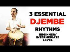 3 Essential Djembe/Hand Drum Rhythms for Beginner/Intermediate Level Players - YouTube