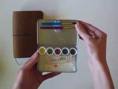 Field Notes Traveler's Notebook and DIY Traveling Watercolor tin - in honor of No Excuses Art journaling