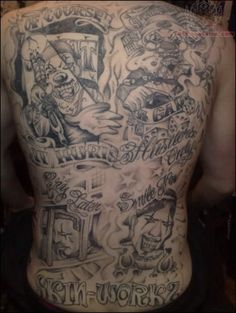 Gangster back tattoo Super Healthy Recipes, Healthy Foods To Eat, Diet Recipes, Girl Tattoos, Tattoos For Guys, Body Tattoos, Gangster Tattoos, Chicano Tattoos, Cartoon Tattoos