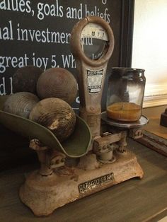 Beautiful old scale shared at the Knick of Time Tuesday Party