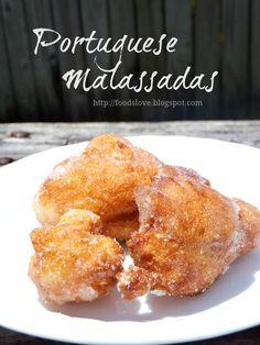 Food is Love: Portuguese Traditions: Malassadas Portuguese Sweet Bread, Portuguese Desserts, Portuguese Recipes, Portuguese Food, Portuguese Malasadas Recipe, Portuguese Donuts Recipe, Portuguese Culture, Delicious Desserts, Dessert Recipes