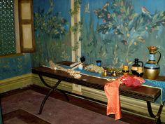 Flavia Gemina's bedroom from the set of CBBC's Roman Mysteries (2008) filmed at Boyana Studios, Bulgaria, Sept 2007.