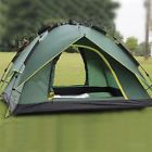 Instant Automatic Pop Up Backpacking Camping Hiking 3 Persons Tent Green