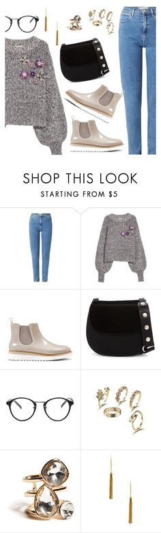 """""""Outfit of the Day"""" by dressedbyrose ❤ liked on Polyvore featuring Wrangler, Nine West, French Connection, GUESS, Vanessa Mooney, ootd and polyvoreeditorial"""
