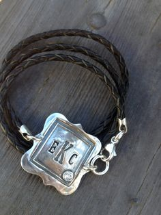Custom Monogrammed initials wax seal silver by designsbytemis, $125.00
