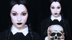 Wednesday Addams Makeup x i actually love madeulook by lex she has the best tutorials ever x this will be my inspired makeover for halloween