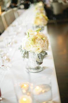 Image via @debra gaines Eby, featured on Style Me Pretty. http://www.stylemepretty.com/canada-weddings/2013/08/20/cambridge-mill-wedding-from-debra-eby-ashley-lindzon-events/