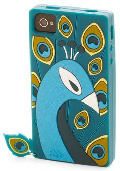 A peacock case for my iPhone--so different! No one would mistake my phone for theirs since the whole word now has an iPhone!!