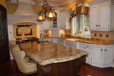 Light colored kitchen countertop.