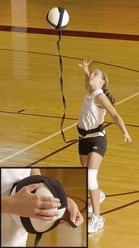 Volleyball Pal is great for practicing your serving toss and arm swing technique. You never have to chase your ball!