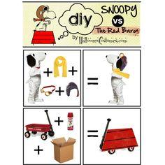 DIY Kids Snoopy vs The Red Baron #halloween #costume