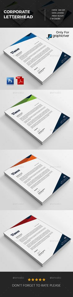 Business Company Letterhead Template - Free Small, Medium And