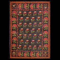 Stock Id: #17171    General Rug Type:       European    Specific Rug Type:       Spanish carpet    Circa: 1920    Color: Black    Origin: Spain    Width: 5' 3'' ( 160.0 cm )    Length: 7' 6'' ( 228.6 cm )