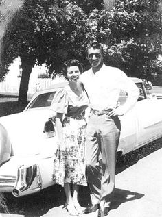 Carl Smith and wife June Carter, mid 1950s.