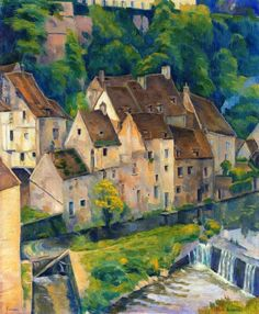 View of Semur I Painting by Emile Bernard |/1868 - 1941/ Oil Painting